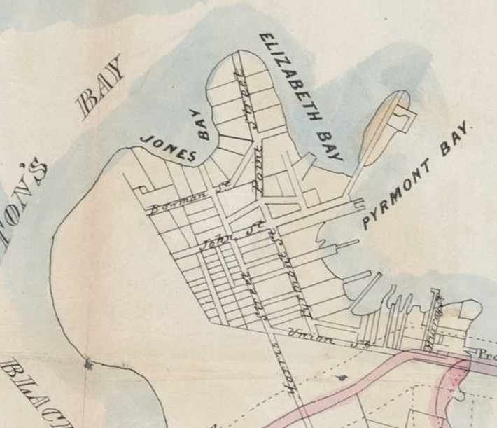 Jacksons Landing in 1850