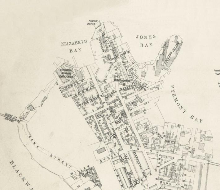Jacksons Landing in 1880