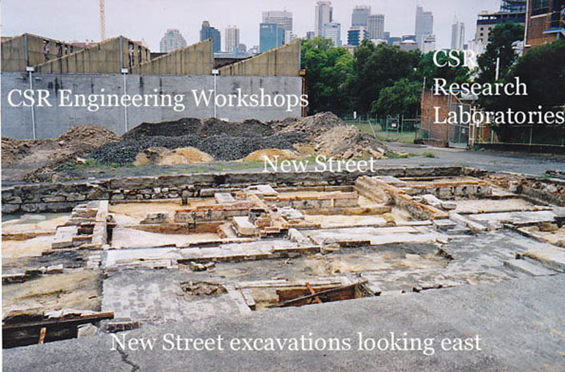 Excavations of New Street houses