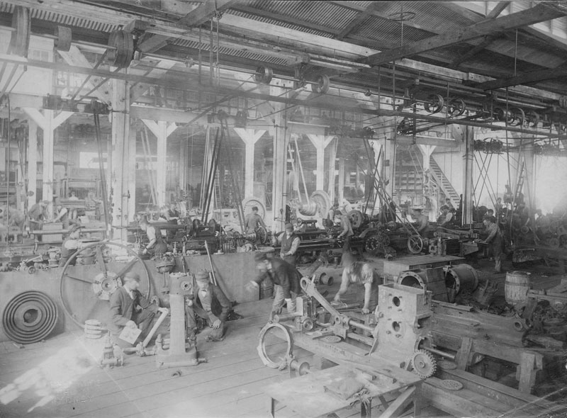 CSR Refinery, Fitters' Workshop, circa 1907