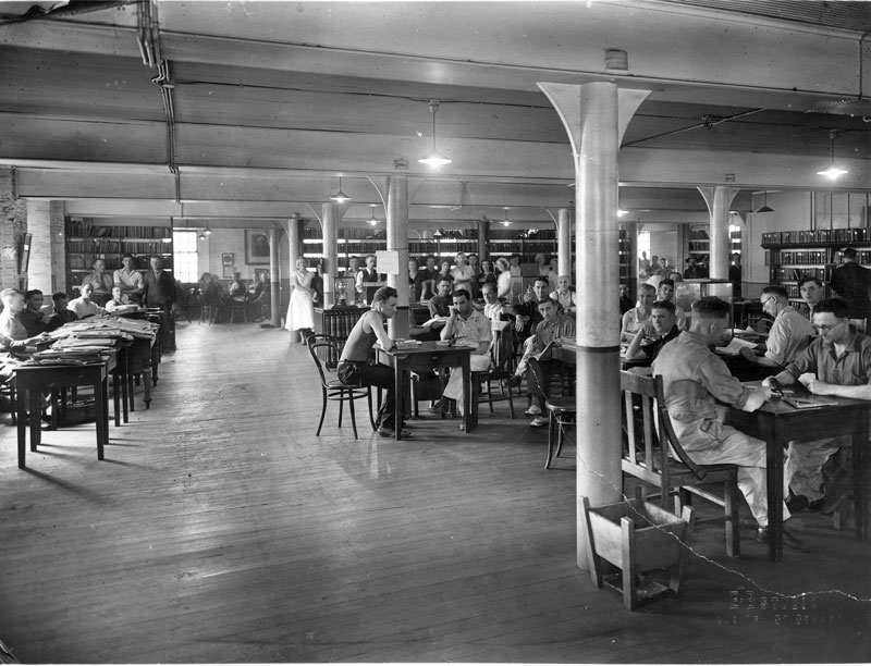 Employees' reading room, circa 1930s