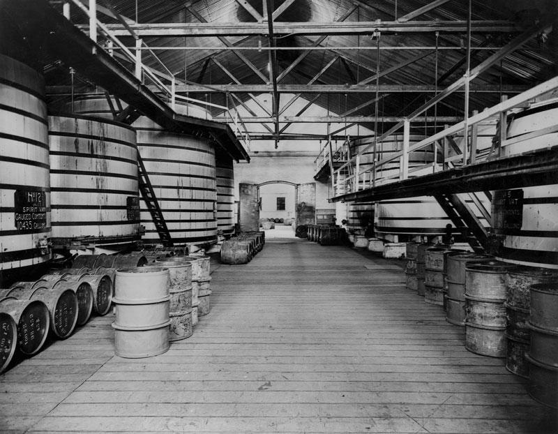 Spirit storage vats, 1947
