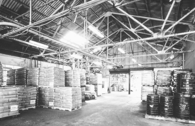 Bulk sugar bags in the packing store