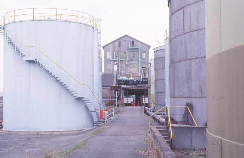 Distillery and molasses tanks