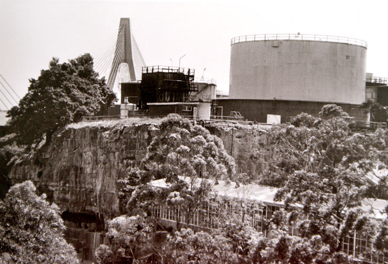 Molasses tanks and the Anzac Bridge