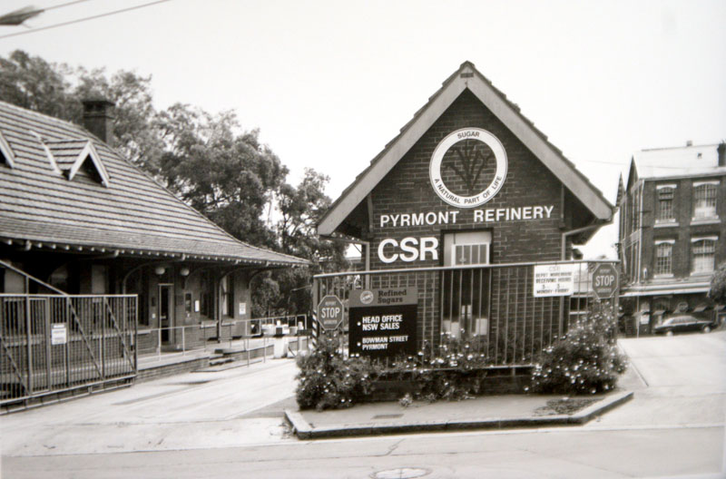 CSR main office and gatehouse (l to r)