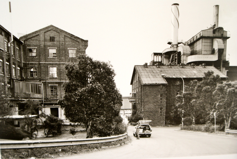 Refinery pan house, Rum Store and high pressure boiler station (l to r)