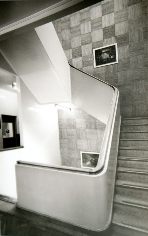 Decorative staircase in the research laboratory