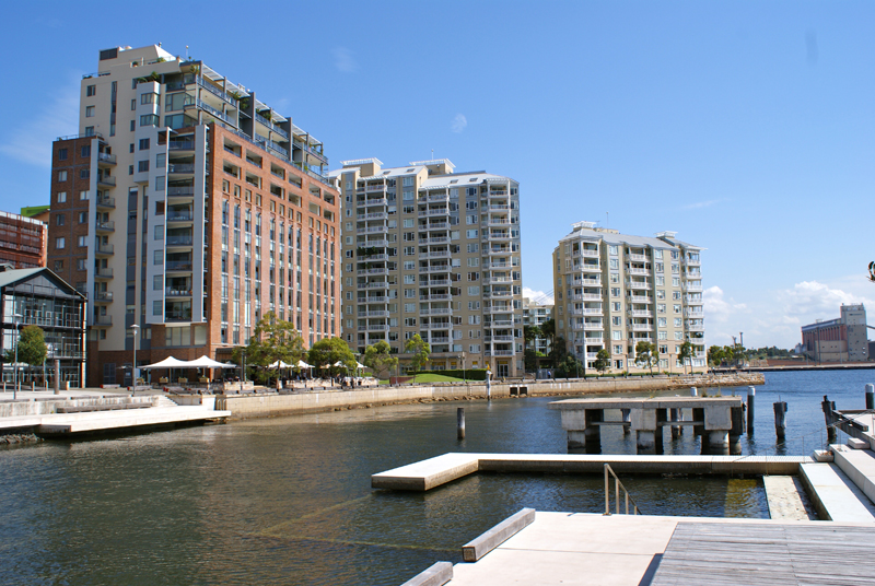 Elizabeth and Regatta Wharf (l to r) from Pirrama Park