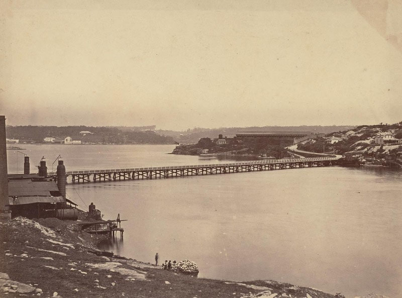 Looking towards Glebe Island Abattoirs 1870