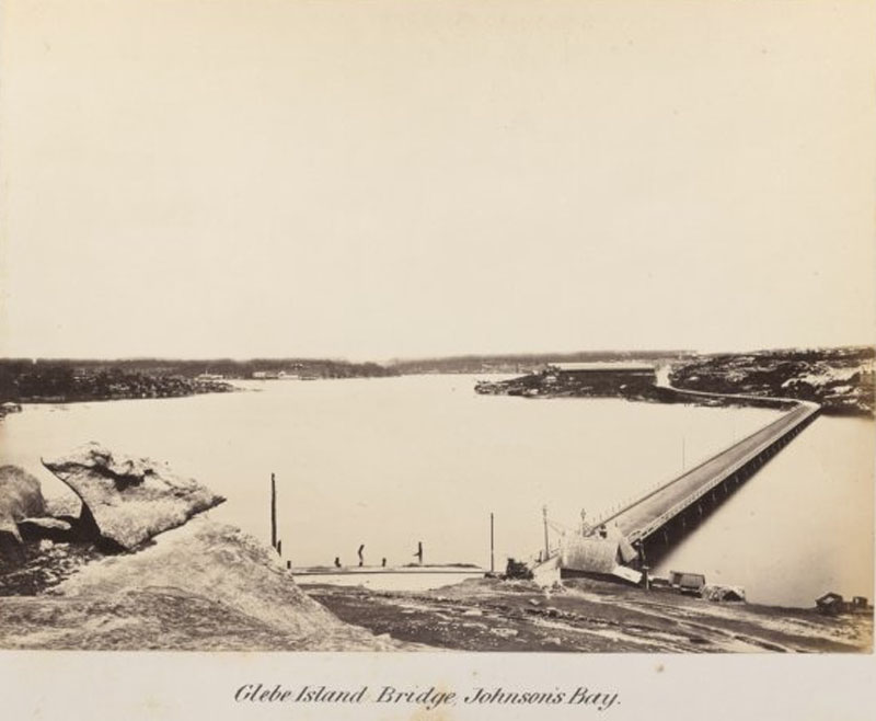 Glebe Island Bridge 1878