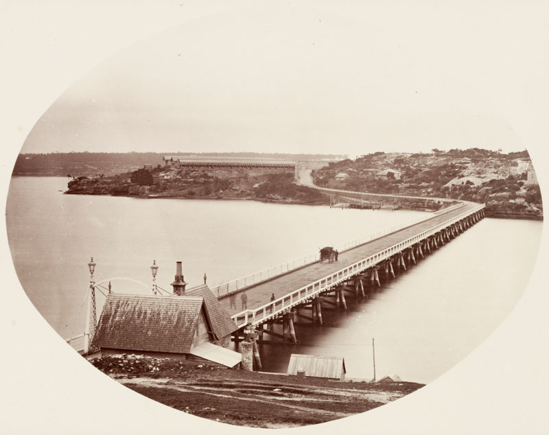 Glebe Island and Glebe Island Bridge 1872