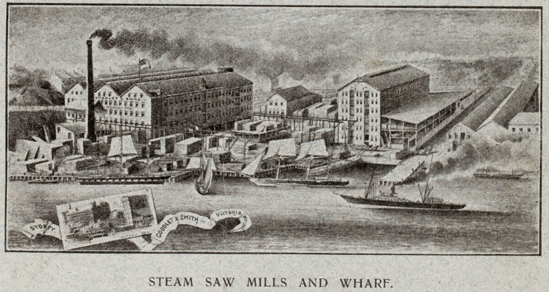 Goodlet & Smith steam saw mills and wharf