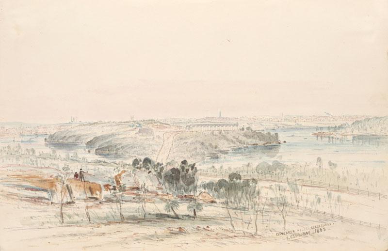 Slaughter houses Glebe Island 1863