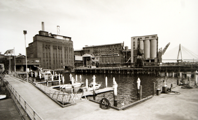 High pressure boiler station and refinery (l to r) from Water Police site