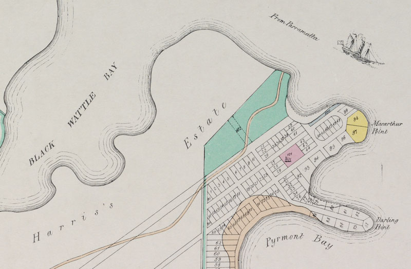 Pyrmont Point 1836