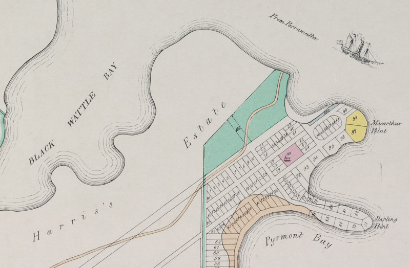 Pyrmont Point 1836