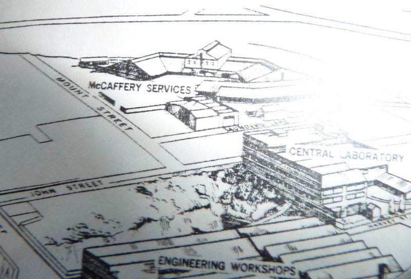 Map with McCafferys 1940s