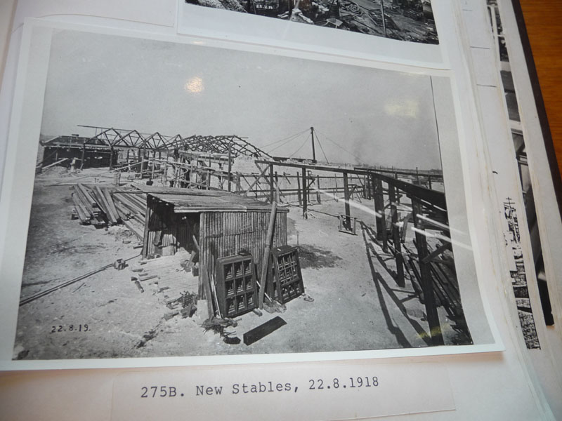 Building the new stables 1918