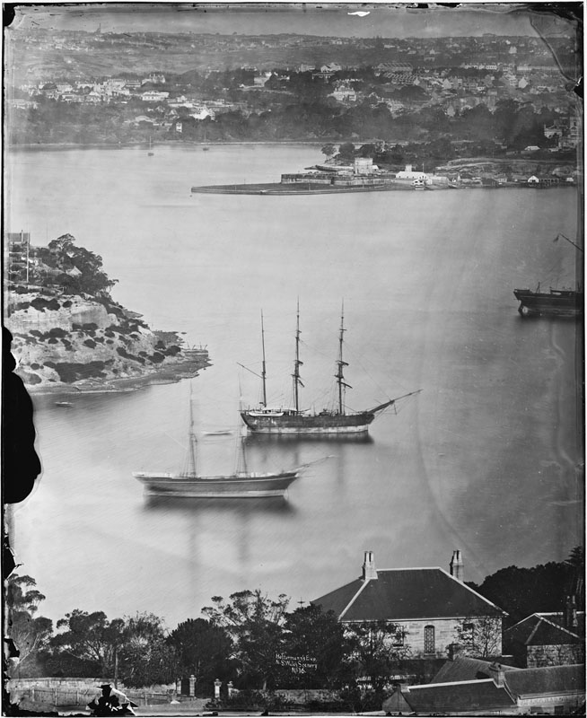 Pyrmont from McMahons Point 1870-75