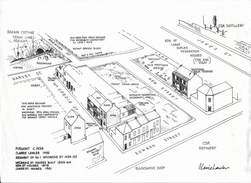Pyrmont houses c1939