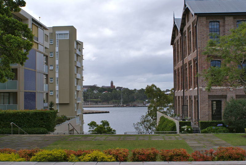 View of water between Escarpment and Tablet House