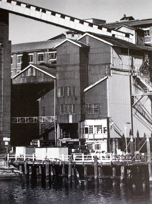 Mark Johnson, Old boiler station, coal elevator, from CSR Pyrmont Refinery Centenary 1978 Photography Project.