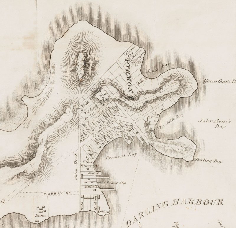 Map of Sydney 1843 (detail)
