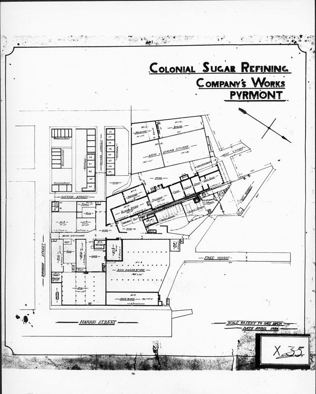 Plan for CSR's works, April 1894