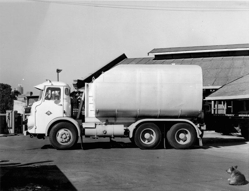 Delivery truck, circa 1960