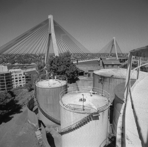 Molasses Tanks and Anzac Bridge
