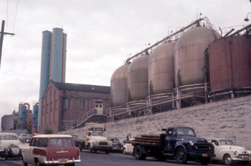 Distillery vats on Jones Street 1961