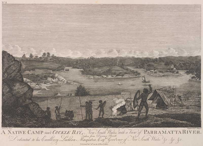 A Native camp near Cockle Bay, Sydney 1812