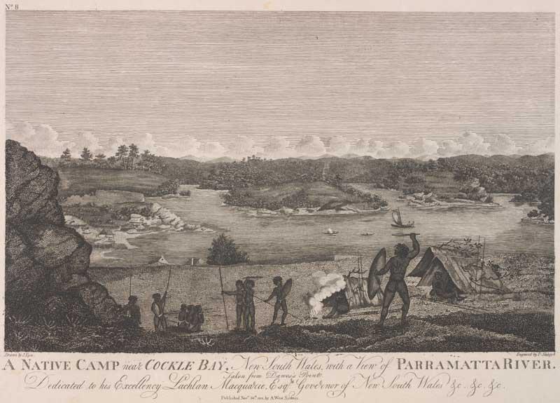 A Native camp near Cockle Bay, Sydney 1812
