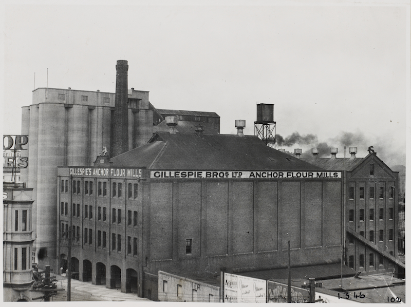Gillespie Bros Ltd Anchor Flour Mills, in Photographic views of Sydney: City Council