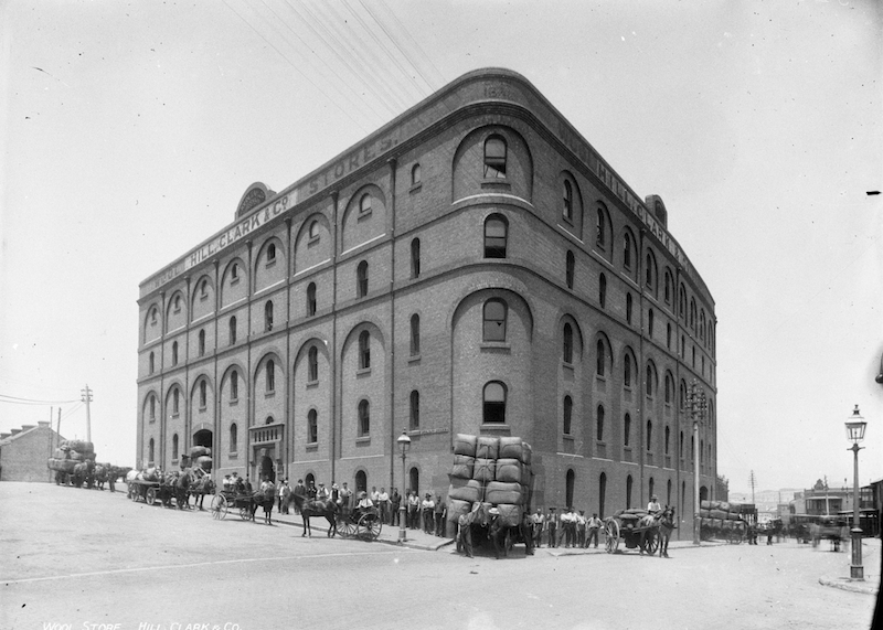 Hill and Clark woolstore