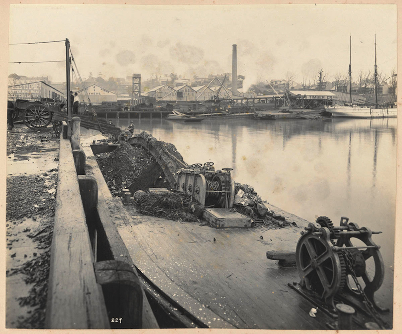 Newtown garbage tip and punt Blackwattle Bay in Views taken during Cleansing Operations, Quarantine Area, Sydney, 1900, Vol. IV.